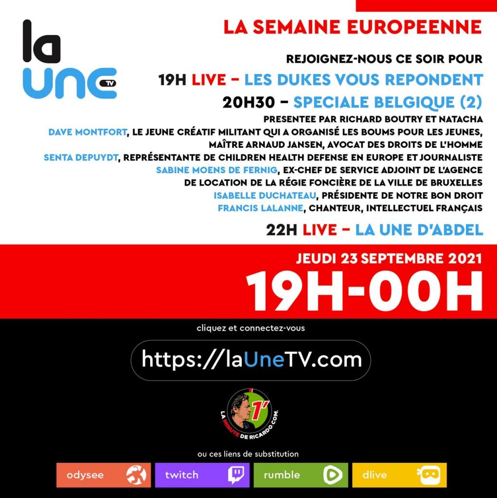 Rejoignez-nous ce soir de 19H à 00H pour cette soirée européenne